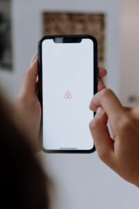 Airbnb smartphone user