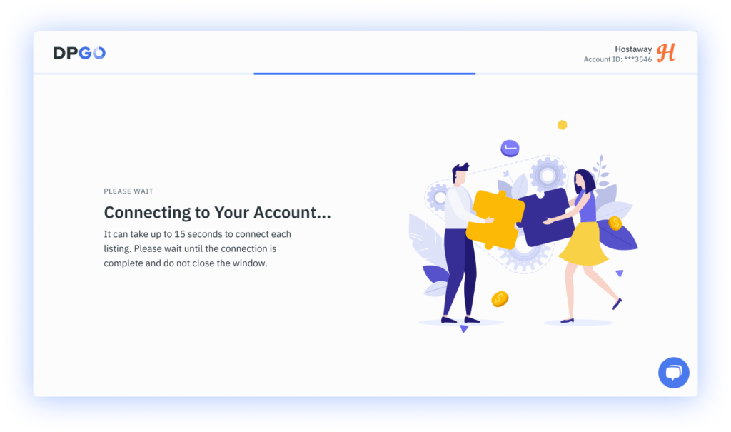 Account connection process