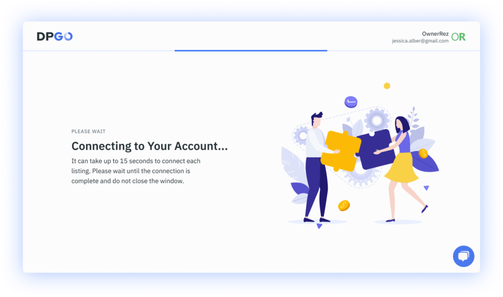 Connecting account