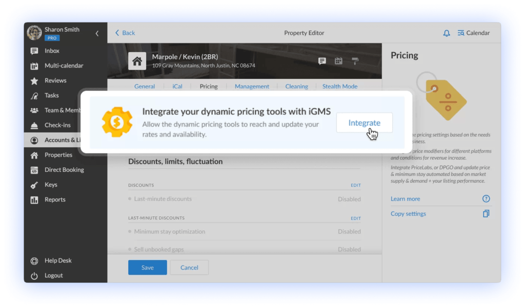Integrate your dynamic pricing